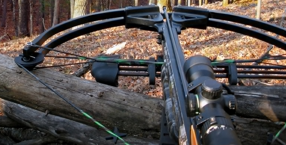 What is an advantage of hunting with a crossbow